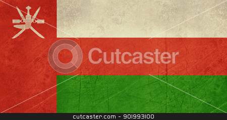 Grunge Oman Flag stock photo, Grunge sovereign state flag of country of Oman in official colors. by Martin Crowdy