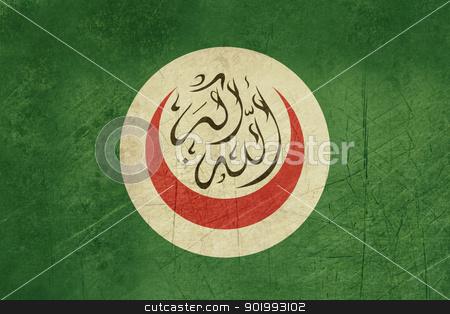 Grunge Organization of Islamic Cooperation stock photo, Grunge background flag of the Organisation or Organization of Islamic Cooperation by Martin Crowdy