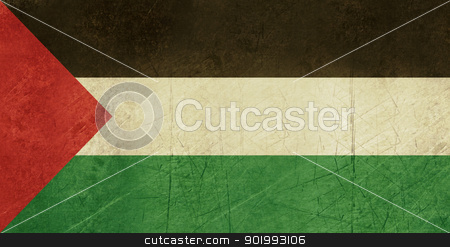 Grunge Palestine Flag stock photo, Grunge Sovereign state flag of country of Palestne in official colors. by Martin Crowdy