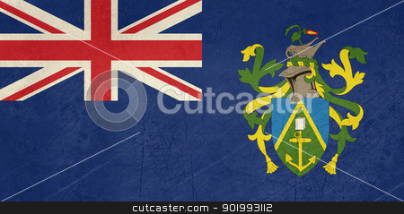 Grunge Pitcairn Islands stock photo, Grunge sovereign state flag of dependent country of Pitcairn Islands in official colors.  by Martin Crowdy