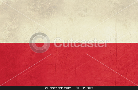 Grunge Poland Flag stock photo, Grunge sovereign state flag of country of Poland in official colors. by Martin Crowdy