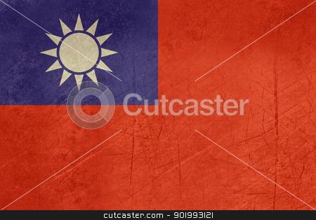 Grunge Republic of China flag stock photo, Grunge sovereign state flag of country of Republic of China in official colors. by Martin Crowdy