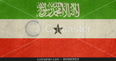 Grunge Somaliland Flag stock photo, Grunge sovereign state flag of country of Somaliland in official colors. by Martin Crowdy