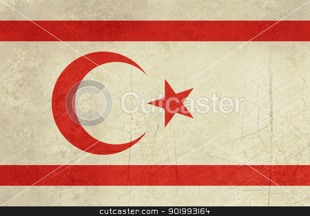 Grunge Turkish Republic of Northerm Cyprus stock photo, Grunge sovereign state flag of country of Turkish Republic of Northern Cyprus in official colors. by Martin Crowdy