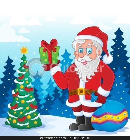 Santa Claus thematic image 5 stock vector clipart, Santa Claus thematic image 5 - vector illustration. by Klara Viskova