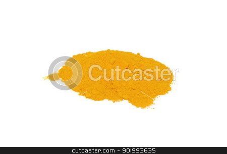 Turmeric powder stock photo, Turmeric powder, isolated on a white background by Sarah Marchant