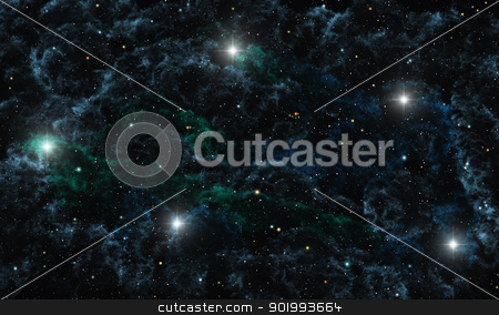 Libra stock photo, This image shows libra with galctic nebula by kirschner