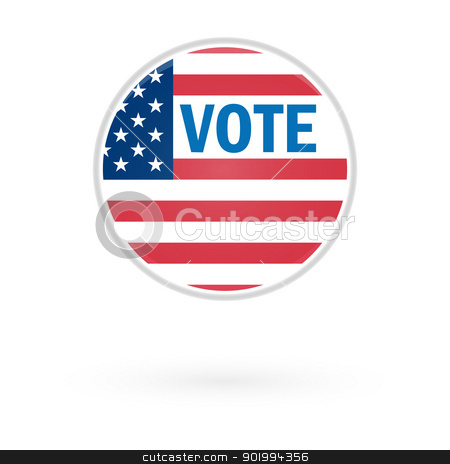 US Election Vote Button. stock vector clipart, US Election Vote Button. by Erdem