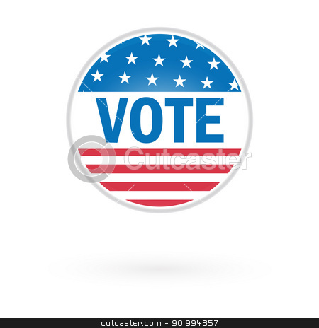 Presidential Election Vote Button In 2012 stock vector clipart, Presidential Election Vote Button In 2012 by Erdem