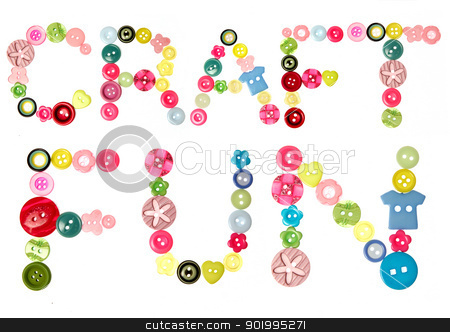 Craft fun words stock photo, The words Craft Fun spelt out with buttons by Mornay Van Vuuren