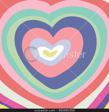 abstraction-heart stock vector clipart, Big color heart. by Natalia Konstantinova
