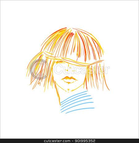 girl stock vector clipart, Ginger girl  by Natalia Konstantinova