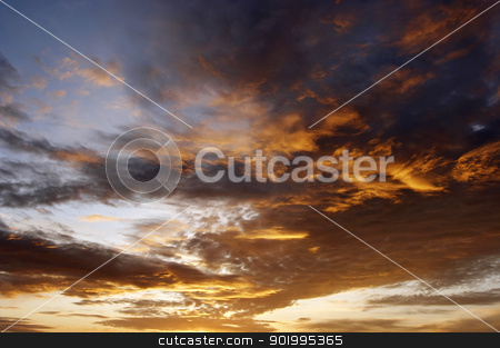 rosy sky stock photo, Shot of the rosy sky by Siloto