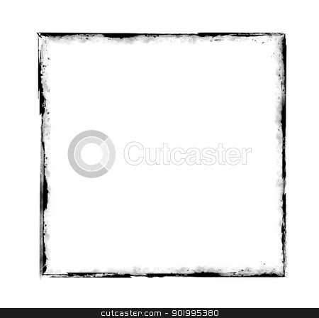 grunge frame stock photo, Illustration of the frame in grunge style by Siloto