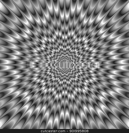 Monochrome Eye Bender stock photo, Digital abstract image with a psychedelic design producing the illusion of movement in monochrome black and white. by Colin Forrest