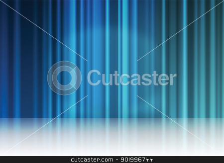 Blue reflection stock photo, background by vitanovski
