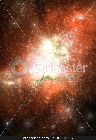 Star field in space and a nebulae stock photo, Star field in space, a nebulae and a gas congestion by Anatolii Vasilev