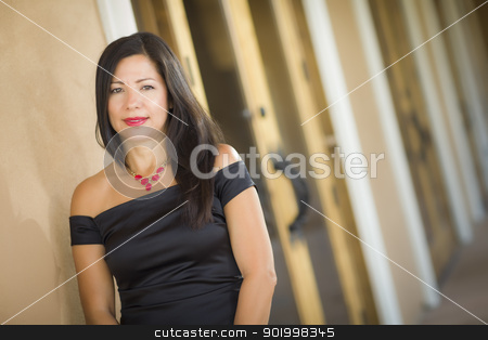 Attractive Hispanic Woman Portrait Outside stock photo, Attractive Smiling Hispanic Woman Portrait Outside. by Andy Dean