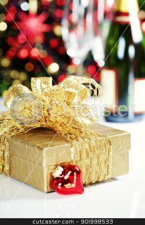 Christmas decoration stock photo, Christmas decoration on Christmas tree background    by klenova