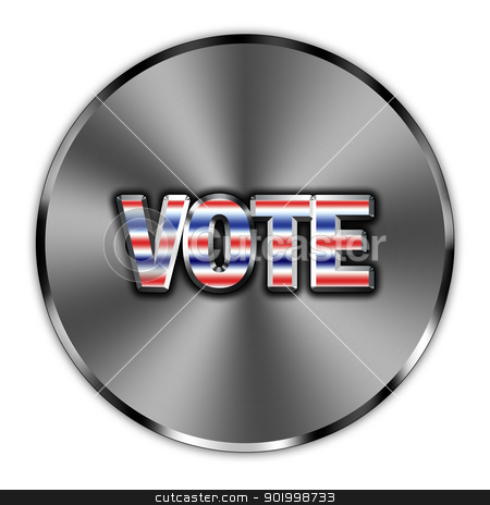 Vote button  stock photo, Word vote, encouragement presented as a button by marekusz