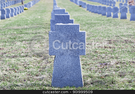 Soldiers' graves stock photo, Soldiers' graves by ARNIS LAZDINS