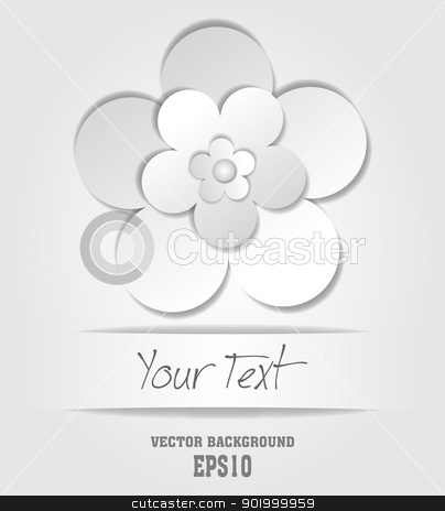 paper flower stock vector clipart,  by zühal