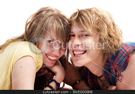 Portrait of smiling young beauty couple 6 stock photo, Portrait of smiling young beauty couple 6 by Sergii Sukhorukov