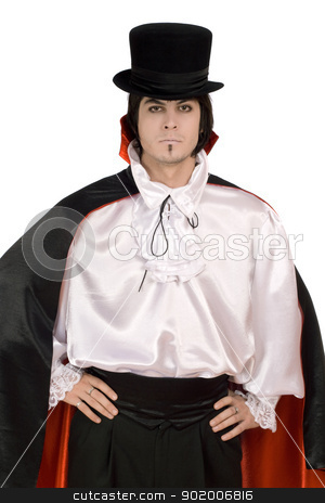 man in a suit of Count Dracula stock photo, Young man in a suit of Count Dracula by Sergii Sukhorukov