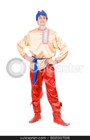 Young man stock photo, Young man in the Russian national costume by Sergii Sukhorukov