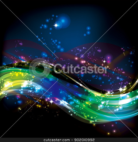 colorful wave star sports lines stock photo, Abstract colorful wave star sports lines,vector colorful background by hitus
