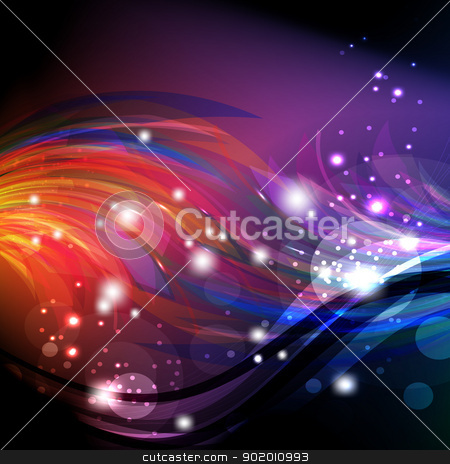 Colorful wavy lines stock photo, Abstract Colorful wavy lines, shiny star background,vector wavy lines background by hitus