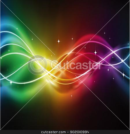 Luminous lines in the dark universe stock photo, Abstract Luminous lines in the dark universe,Abstract dark background by hitus