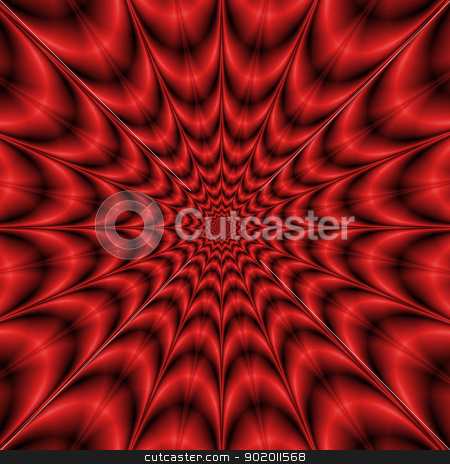Red Explosion stock photo, Star shaped abstract fractal design in shades of red. by Colin Forrest
