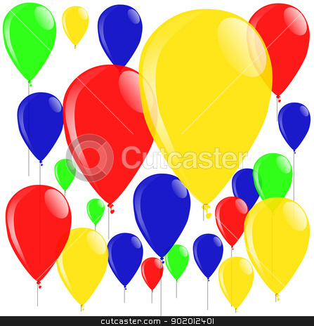 Balloons stock vector clipart, A bright collection of colourful balloons. by Kotto
