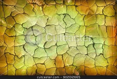 Illustration of cracked background stock photo, Illustration of cracked background. Bright tricolored pattern. by lermannika