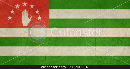 Grunge Abkhazia flag stock photo, Grunge sovereign state flag of country of Abkhazia in official colors. by Martin Crowdy