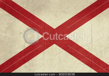 Grunge Alabama state flag stock photo, Grunge Alabama state flag of America, isolated on white background. by Martin Crowdy