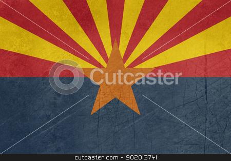 Grunge Arizona State flag stock photo, Grunge Arizona state flag of America, isolated on white background. by Martin Crowdy