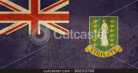 Grunge British Virgin Islands stock photo, Grunge sovereign state flag of dependent country of British Virgin Islands in official colors.  by Martin Crowdy