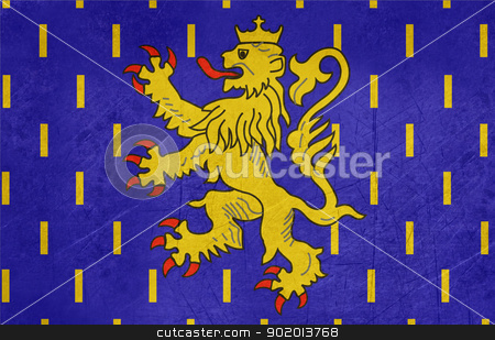 Grunge Franche-Comte flag stock photo, Grunge Illustration of French province of national state of Franche-Comte, France. by Martin Crowdy