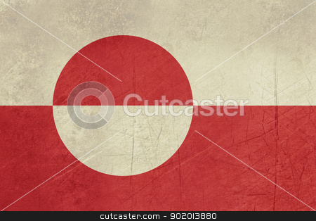 Grunge Greenland Flag stock photo, Grunge sovereign state flag of dependent country of Greenland in official colors.  by Martin Crowdy
