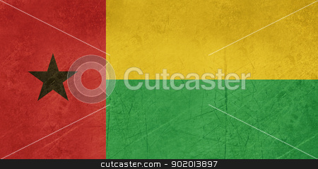 Grunge Guinea Bissau stock photo, Grunge sovereign state flag of country of Guinea-Bissau in official colors. by Martin Crowdy