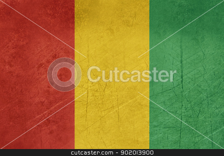 Grunge Guinea Flag stock photo, Grunge sovereign state flag of country of Guinea in official colors. by Martin Crowdy