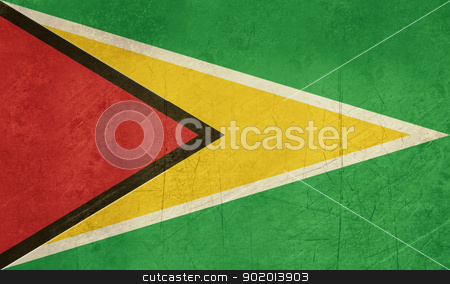Grunge Guyana flag stock photo, Grunge sovereign state flag of country of Guyana in official colors. by Martin Crowdy