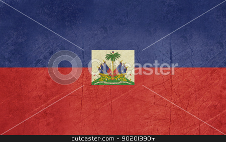 Grunge Haiti Flag stock photo, Grunge sovereign state flag of country of Haiti n in official colors. by Martin Crowdy