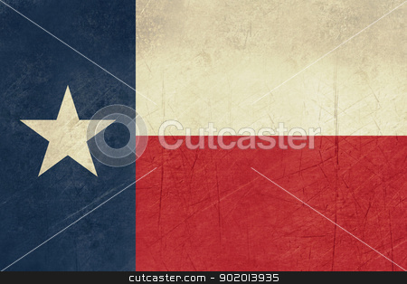 Grunge Texas state flag stock photo, Grunge Texas state flag of America, isolated on white background. by Martin Crowdy