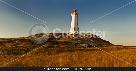 Lighthouse in beautiful colors during a sunset stock photo, Lighthouse in beautiful colors during a sunset, colors are glowing by Ulrich Schade