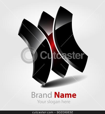 Abstract glossy brand logo/logotype stock vector clipart, Originally designed abstract glossy brand logo/logotype by Vladimir Repka