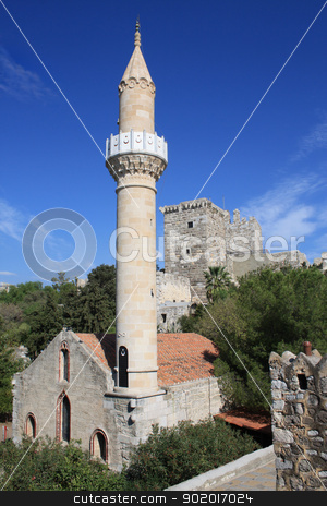Old mosque in the Castle of St Peter, Bodrum, Mugla, Turkey stock photo, Medieval castle of St Peter and mosque (Suleymaniye Camii), Bodrum, Mugla Province, Turkey. by Brigida Soriano