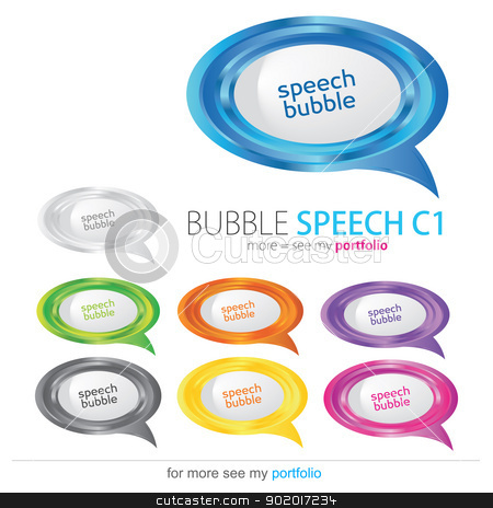 Bubble speech, vector stock photo, Vector image for various applications: websites, print, icons, logo, sign, advertising, business, internet and other uses. Vector can adjust color to your liking. Speech Bubbles. by Milan Gudába